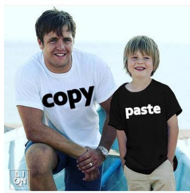 Image of Family Matching Outfit Copy Paste Father Son - fobglobal