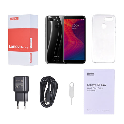 2018 Lenovo K5 Play 3GB 32GB Face ID 4G Mobile Phone 5.7 inch Snapdragon MSM8937 Octa Core Rear Camera 13MP+2MP Front Camera 8MP - fobglobal