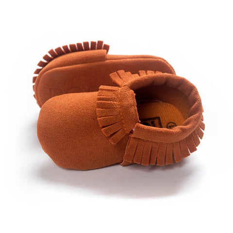 Image of Newborn Baby Moccasins Non-slip Crib First Walker - fobglobal