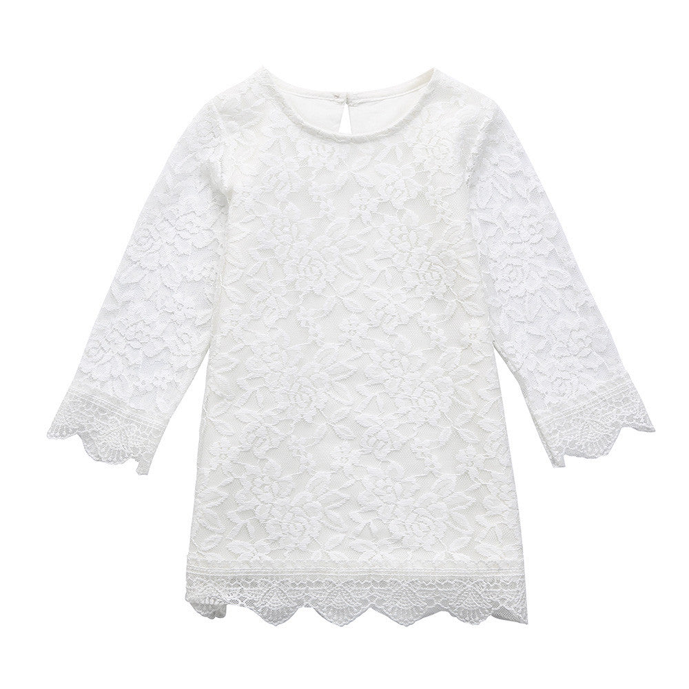 Toddler Girls Princess Lace Dress for 1-4Y