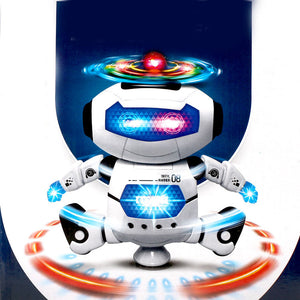 360 Rotating Dance Robot Electronic Toy With Music 'n Lights For Kids - fobglobal