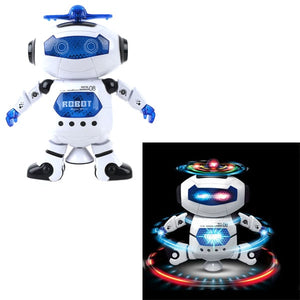 360 Rotating Dance Robot Electronic Toy With Music 'n Lights For Kids