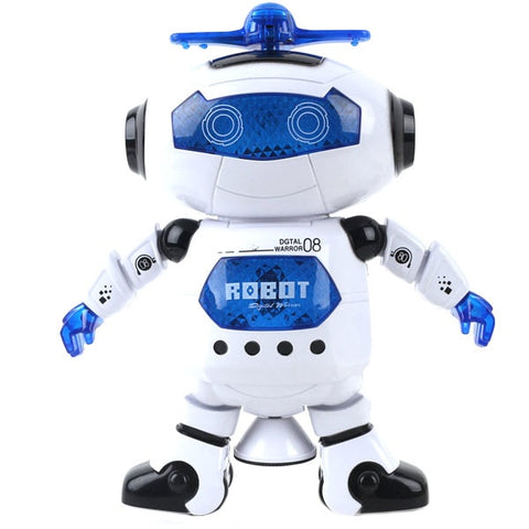 360 Rotating Smart Space Dance Robot Electronic Walking Toy With Music Light For Kids - fobglobal