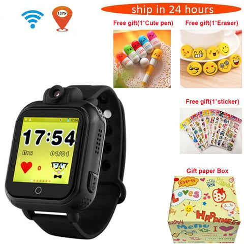 720P Camera Kids Wristwatch 3G GPRS GPS Locator Tracker Smart Watch - fobglobal