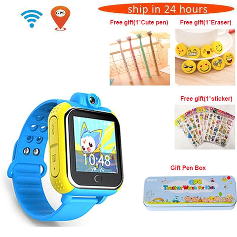 Image of 720P Camera Kids Wristwatch 3G GPRS GPS Locator Tracker Smart Watch - fobglobal