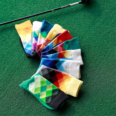 Mens Diamond Stripe Socks - fobglobal