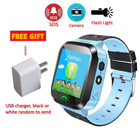 Kids Smart Watch With SOS Call Camera Touch Screen Lighting - fobglobal