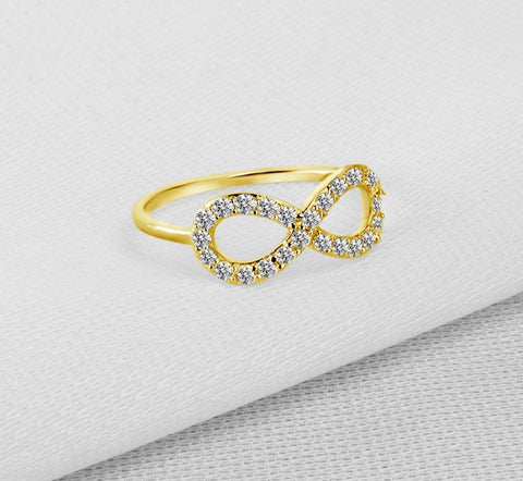 AINUOSHI 10K Solid Yellow Gold Wedding Ring Pure Gold Twisted Party Accessories Womens Simulated Diamond Jewelry Finger Rings - fobglobal