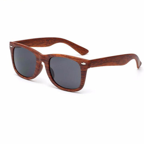 Image of Wood Grain Frame Sunglasses for Women Vintage Eyewear