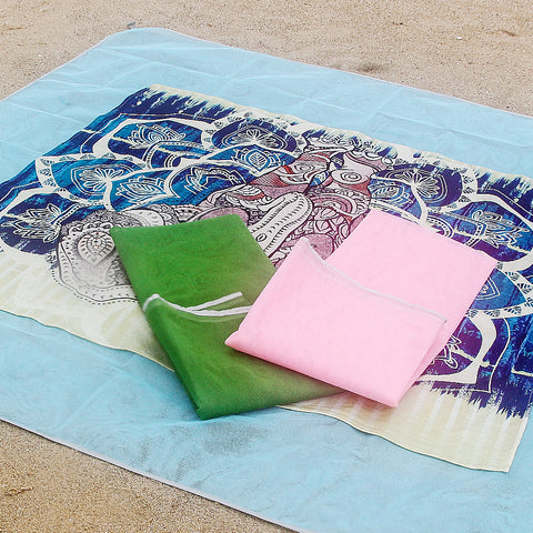 Image of Sand Free Mat Camping Outdoor Foldable Picnic Beach Mat