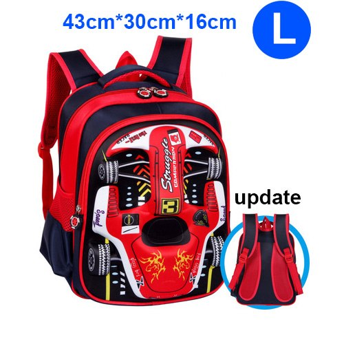 3D Racing Car Kindergarten Nursery School Student Backpack - fobglobal