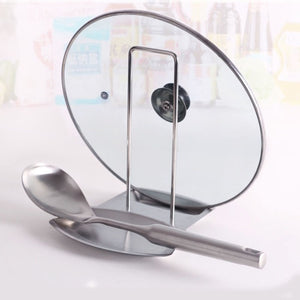 Stainless Steel Pot Cover Spoon Rest Holder Stand