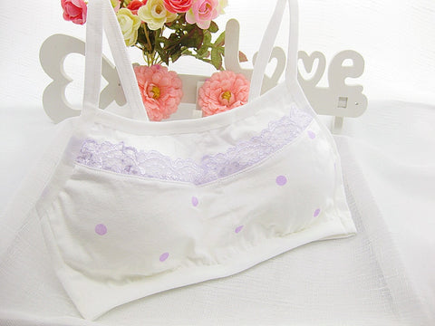 Image of Cotton Lace Teens Girls Bra Sports Underwear - fobglobal