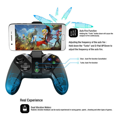 G4s Bluetooth Gamepad for Android TV BOX Smartphone Tablet 2.4Ghz Wireless Controller for PC VR Games - fobglobal