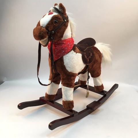 Walking Horse Toys Wooden Music Rocking Horse Indoor And Outdoor Ride On Horse Toy