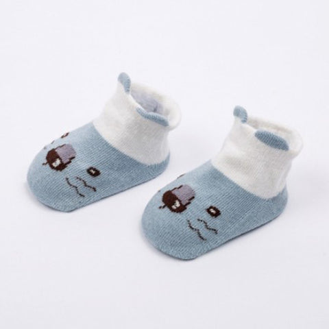 Image of Newborn Baby Low Top Cartoon Pattern Non-slip Socks - fobglobal