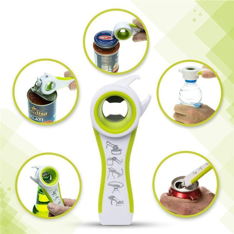 Image of Multifunction Opener 5 in 1 Bottles Jars Cans Manual Opener Gadget - fobglobal
