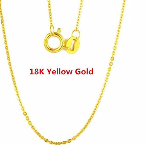 Image of Genuine 18K White Yellow Gold Chain 18 inches - fobglobal