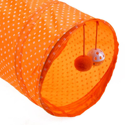 Playing Tunnel Rabbit Kitten Collapsible Tunnel Cat Foldable Toy