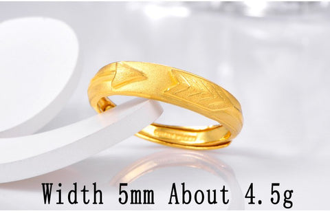 24K Pure Gold Ring Real AU 999 Solid Gold