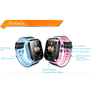 Kids Smart Watch With SOS Call Camera Touch Screen Lighting