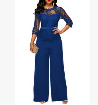 Image of Sexy Women Casual Lace Top and Pants Nightclub Party Jumpsuit
