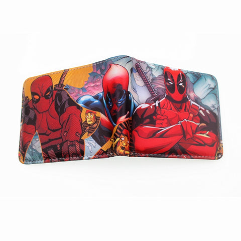 Image of Comic Marvel Wallet Green Hulk Spiderman Deadpool Batman for Teens with Coin Zipper - fobglobal