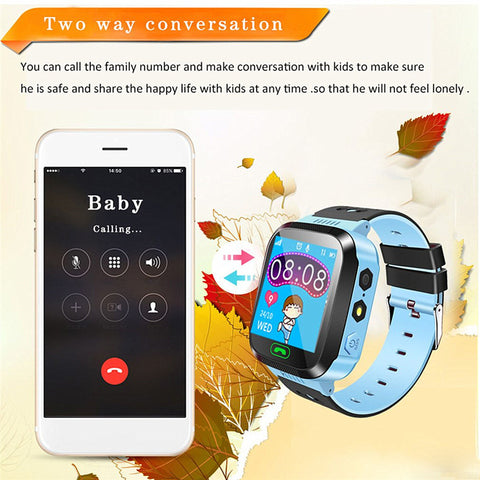 NEW Smart Watch Kids Wristwatch Waterproof With Remote Camera SIM Calls - fobglobal