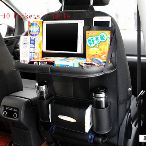 Image of Universal Car Seat Organizer Auto Back Seat Bag Storage Accessories