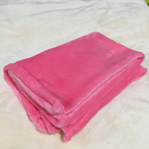 Image of Fleece Throw Blanket Machine Washable 50cm * 70cm - fobglobal