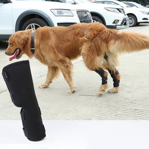 2PCS/pair Dog Leg Knee Hock Brace Straps Protection Pet Dog Bandages