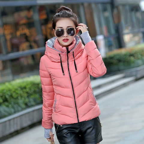 Image of Winter Down Jacket Warm and Hooded
