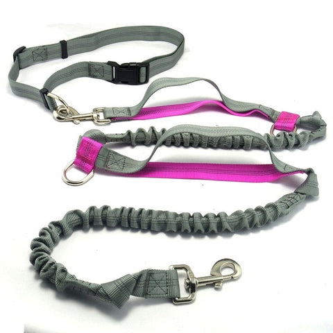 Pet product Dog Leash Running  belt Jogging Sport  Adjustable Nylon Dog rope