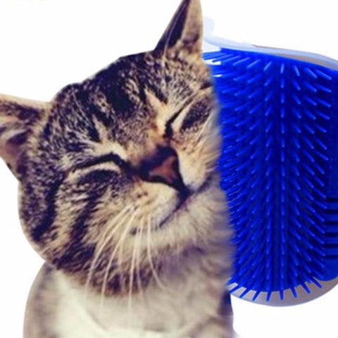 Pet Brush for Cats Corner Self Groomer with Catnip