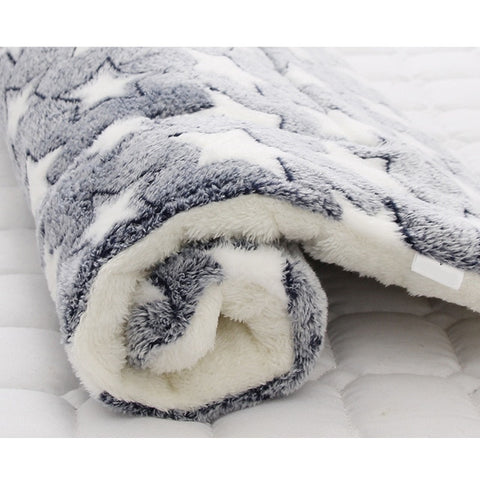 Image of Soft Flannel Pet Dog Blanket Mat Winter Thick