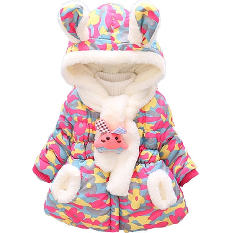 Winter Baby Jacket Outerwear Toddler Girls Snow Wear