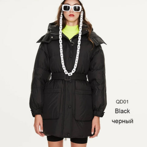 Image of Short Winter Women Duck Down Jacket
