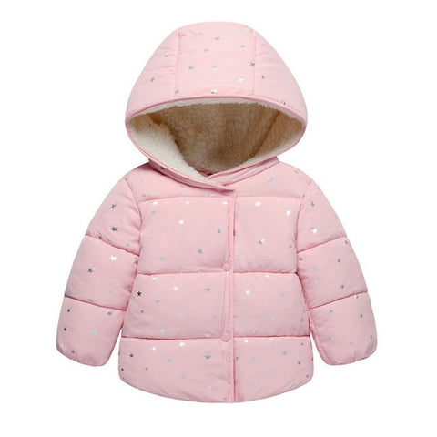 Winter Outer Wear Long Sleeve Jacket Warm Hooded Coat 1 -6 Years