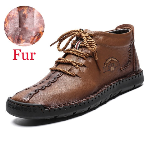 Waterproof Winter Men's Boots With Fur