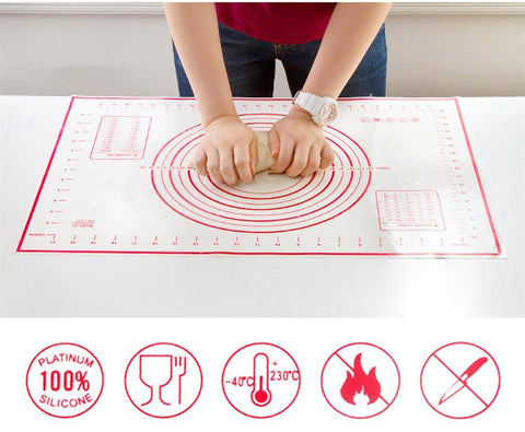 Image of Silicone Baking Mat Pizza Dough Maker Kitchen Gadget