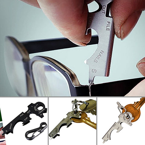 8 in 1 Stainless Steel Multi-functional Tool Key for Outdoors - fobglobal