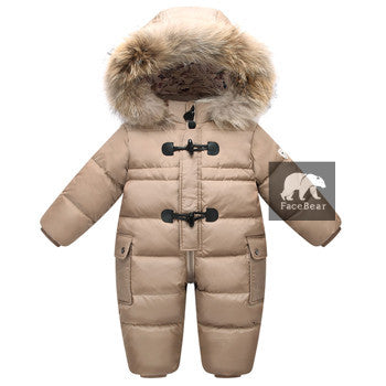 Winter Baby Snowsuit 90% Duck Down Jacket for Girls -Warm to -30 degrees