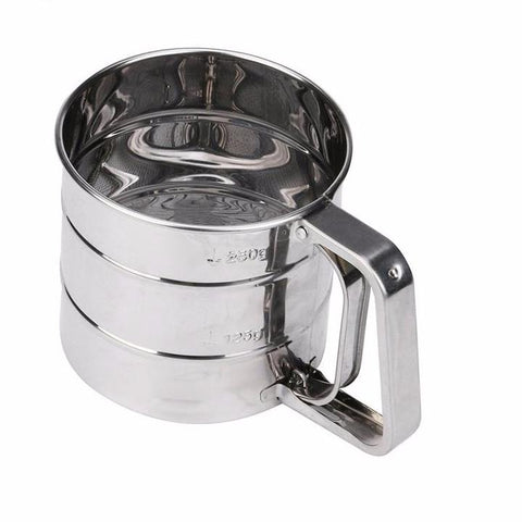 Image of Stainless Steel Mesh Flour Sifter-Cup Kitchen Gadget