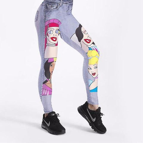 Beauty And The Beast Leggings Plus Sizes - fobglobal