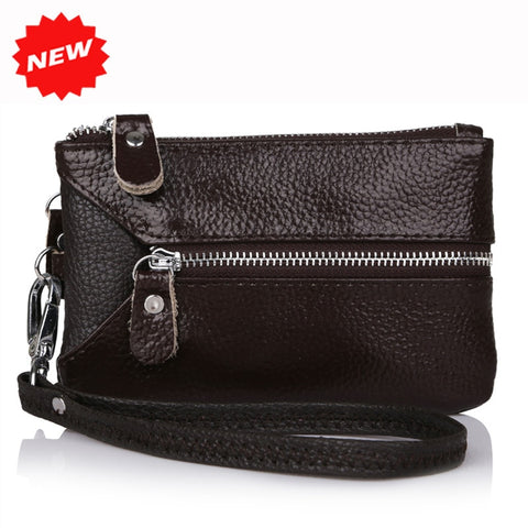 Leather Multifunctional Wristlet Clutch Purse - fobglobal
