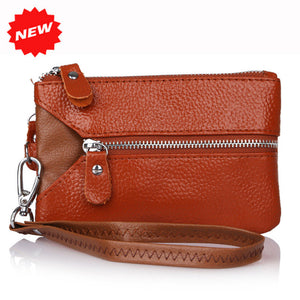 Leather Multifunctional Wristlet Clutch Purse