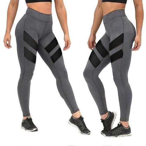 Popular Plus Size Leggings Mesh Splice