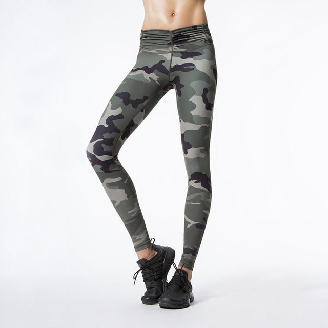 Camouflage Print Fitness Legging - fobglobal