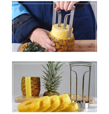 Image of Stainless Steel Pineapple Peeler Core Tool