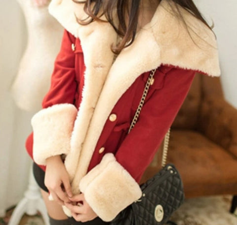 Image of Women's Winter Casual Double Breasted Coat Sizes S-5XL